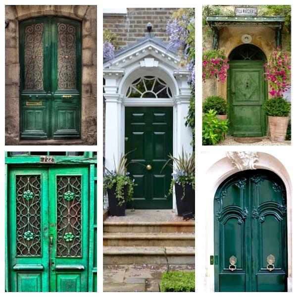 Green Front Doors: The Emerald Green Door In My Dreams
